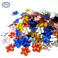 HL 15mm 100pcs/lot Snowflake Loose Rhinestones Sew-on Apparel Shoes Bags Sewing Accessories DIY Crafts