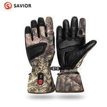 SAVIOR S-03 Winter Heated Glove for skiing,fishing,riding,hunting,outerdoor sports,controlled temperature savior full leather heated glove shgs06b with 3 levels control for outdoor sports ski golf riding race gift au nz us eu uk plug