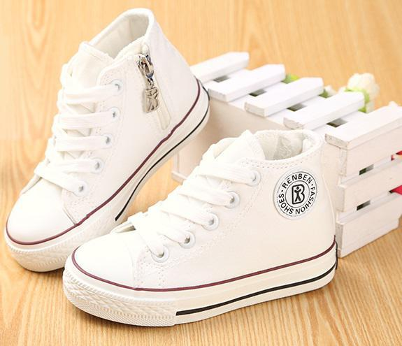 2016 Children Shoes High Child Canvas Shoes Spring And Autumn Male
