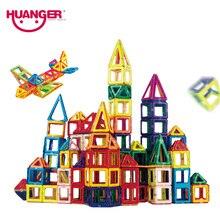 Huanger 32PCS Mini Magnetic Designer Building Blocks DIY 3D Educational Brick Toys Construction Enlighten Assembly For