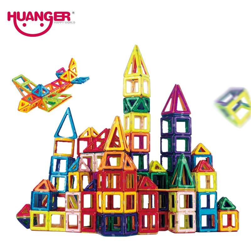 Huanger 32PCS Mini Magnetic Designer Building Blocks DIY 3D Educational Brick&Toys Construction Enlighten Assembly For Baby Gift