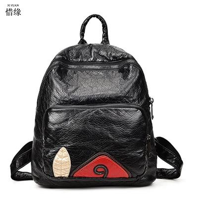 купить Women Backpack 2017 hot baobao Casual Bags Female Ladies Shoulder Bag PU Leather Schoolbag For Teenagers Girls Backbag Mochila недорого