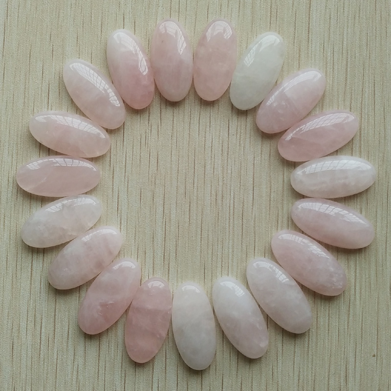Wholesale 20pcs/Lot high quality natural quartz stone oval cab cabochons beads for Jewelry Accessories making 15x30mm free