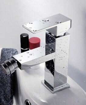 brass material single lever chrome hot and cold bathroom bidet faucet faucet tap mixer BF015 high pressure toilet bidet faucet cold and hot water tap polish chrome bidet mixer ducha higienica