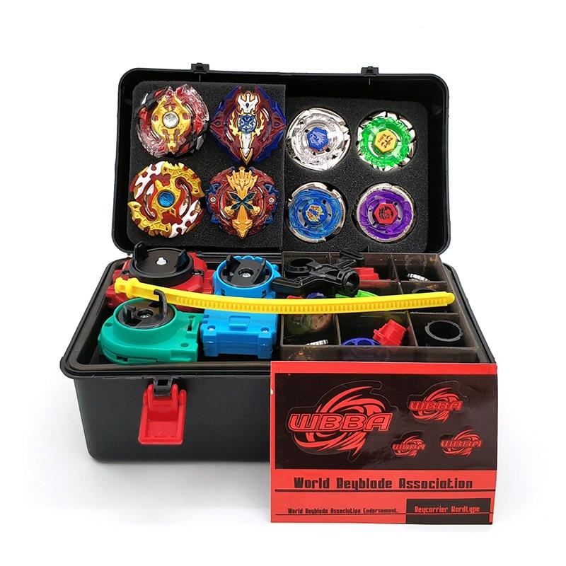 8PCS Beyblade burst Toupie Beyblades Metal Fusion Black Beyblades Set Box bey blade Launcher Beyblade Toys