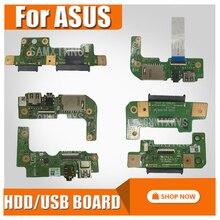Para For Asus X555DG X555D X555QG X555Q X555YI X556U X556UJ X556UJ X556UV X555U X555UJ HDD Placa de disco duro tarjeta de AUDIO IO