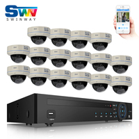 16CH NVR 24CH POE Switch Security CCTV System 16pcs 1080P HD H 264 25fps 30IR Outdoor