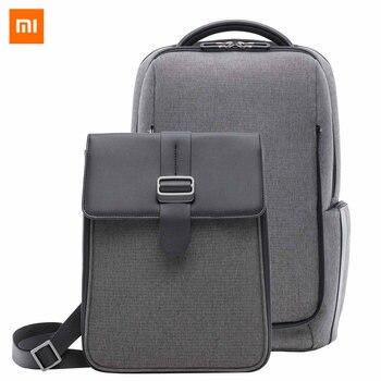 Оригинальный модный рюкзак для путешествий Xiaomi, съемная передняя сумка, большая вместительность, 15,6 дюйма, сумка для ноутбука, водонепрониц...