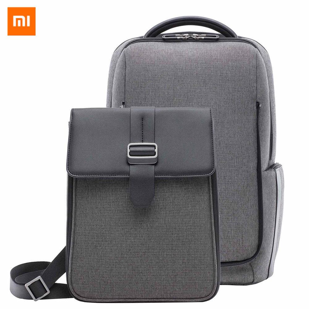 Оригинал Xiaomi моды поездок Рюкзак съемная передняя сумка большая Ёмкость 15,6 дюймов Сумка для ноутбука анти-вода деловая дорожная сумка
