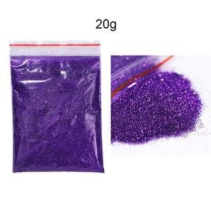 Image 5 - 1 tasche 20/5g Nagel Pulver Laser Schimmer Glitter Pailletten Chrom Pigment Staub ail Kunst Dekorationen