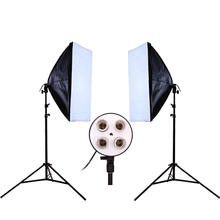 DHL or EMS Photo Studio Kit Photography Lighting Photo Equipment 2PCS* Lamp Holder + 2PCS* Softbox  Lightbox +2PCS* Light Stand