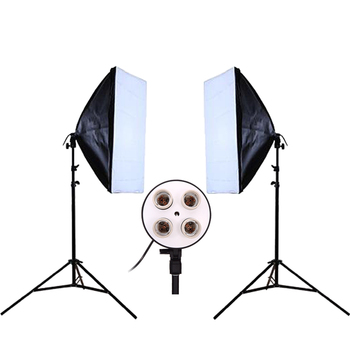 DHL or EMS Photo Studio Kit Photography Lighting Photo Equipment 2PCS* Lamp Holder + 2PCS* Softbox  Lightbox +2PCS* Light Stand Photo Studio Accessories