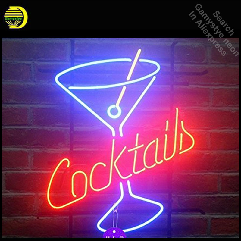 Cocktails Martini Neon Sign Cup neon bulb Sign Glass Tube neon lights Recreation Beer Ic ...