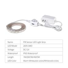 1M-5M LED Under Cabinet Light SMD 2835 High Lumen Smart Night Light With Motion Sensor For Closet Kitchen Wardrobe Bedroom