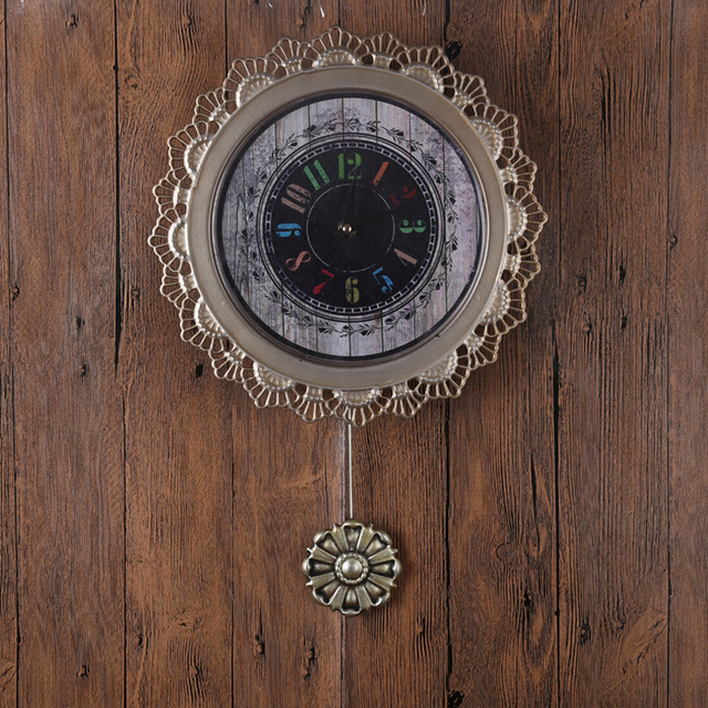 Modern large circular wall clock lacquer Roman numerals Jane European wall clock for a variety of space home decorative wall clo