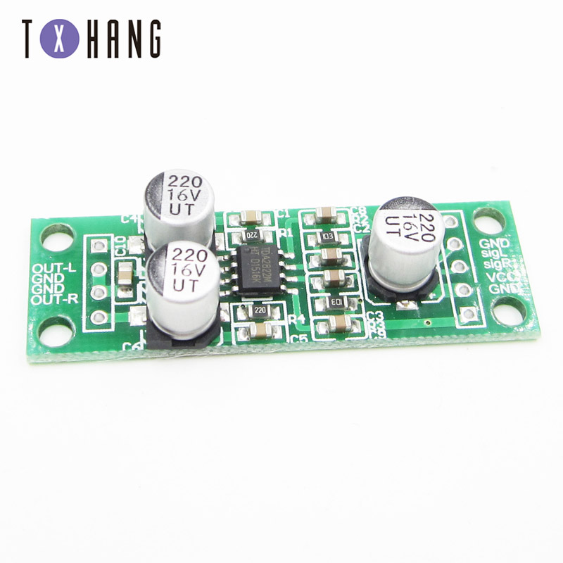 2x1.5W TDA2822 Dual Channel Stereo Audio <font><b>Amplifier</b></font> <font><b>Module</b></font> Power <font><b>Amplifier</b></font> Board Audio Board <font><b>5V</b></font> 41x20mm Amplificador Audio image