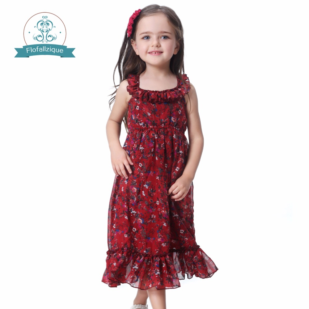 Floral Baby girl dress 2018 Summer Vintage Ruffles Long Chiffon Princess Wedding Party Dresses Vestidos Toddler Kids Clothes sst 50 smooth aluminum reflector 5 1cm diameter