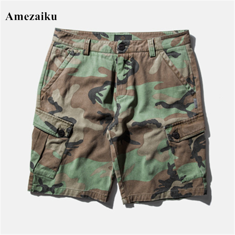 2017 Military camouflage waterproof cargo military shorts large size M-3XL thin material for summer short pants short masculino