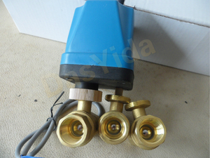 """Image 4 - DN15(G 1/2"""") AC220V 2 way 3 wire motorized brass ball valve with electric actuator controller"""