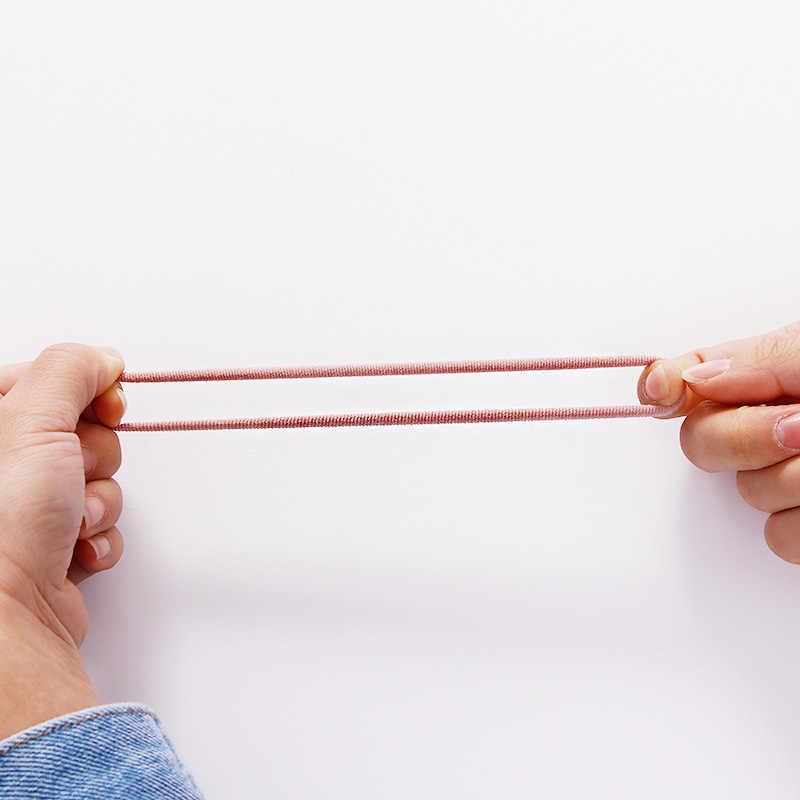 50/100 шт Для женщин и девочек 4 см конфеты Цвета нейлон резинки для волос хвост держатель резинки резинка для волос; повязка для волос; аксессуары