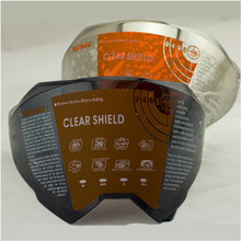 Replacement shield for WLT 128 motorcycle helmet glasses for WLT 128 Motocross helmet Tinted , chrome silver , Black , Clear