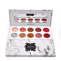XSB1 XSB25 VERONNI 10 Color Eyeshadow Pan Glitter Powder Sequined Pearl Matte Eye Shadow