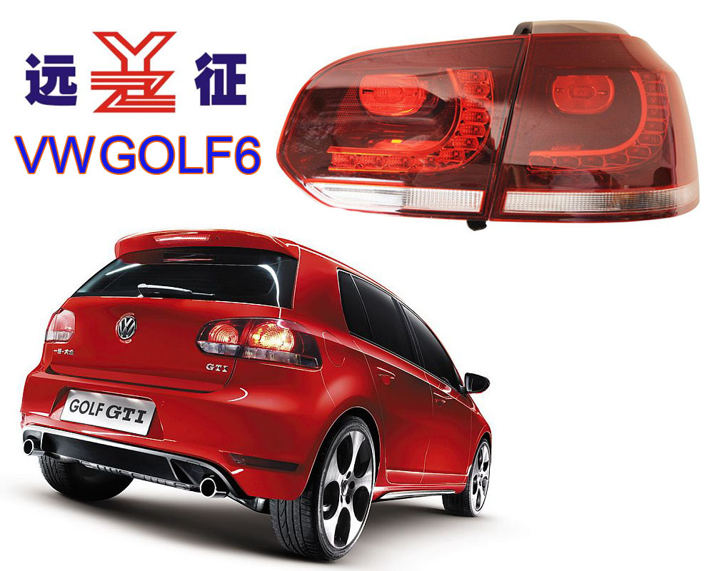 Free shipping vland factory taillamp for Golf 6 Led taillight R20 MK6 rearlight red and smoke plug and play design free shipping vland factory car parts for camry led taillight 2006 2007 2008 2011 plug and play car led taill lights