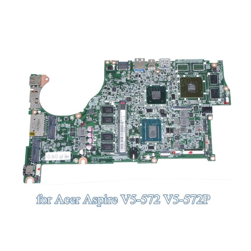 DA0ZQKMB8E0 For Acer Aspire V5-572 V5-572G Laptop motherboard I7-3537 GT740M graphics
