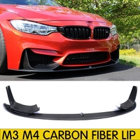 For M3 M4 Carbon Fiber Front Bumper Lip Chin Spoiler With Removable Side Splitter for BMW F80 M3 F82 F83 M4 Coupe & Convertible