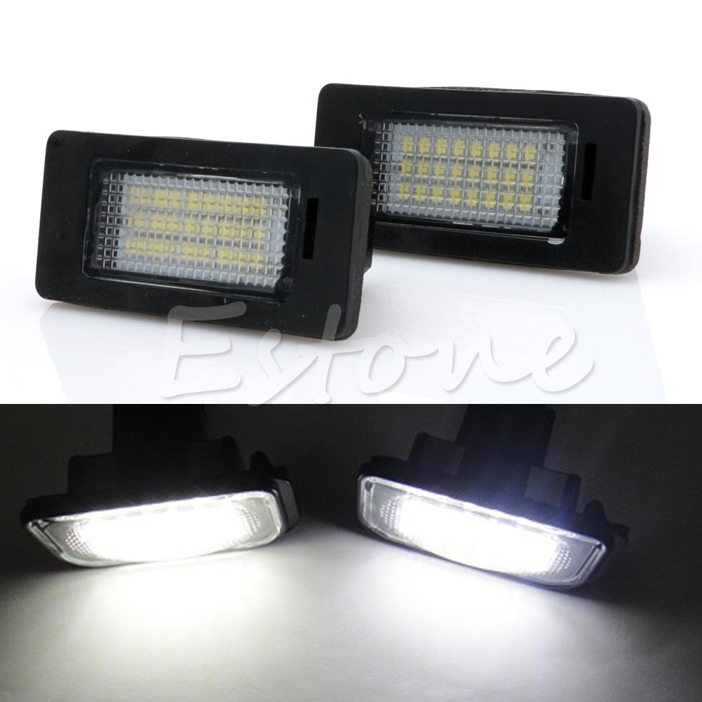 2X 24 SMD LED Error Free License Plate Light For BMW 1 Series E82 E88 E39 E61N Car Light Source 2 x led number license plate lamps obc error free 24 led for bmw e39 e80 e82 e90 e91 e92 e60 e61 e70 e71