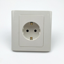 Power Socket Panel AC 110~250V 16A CE certification, German standard, wall panel socket