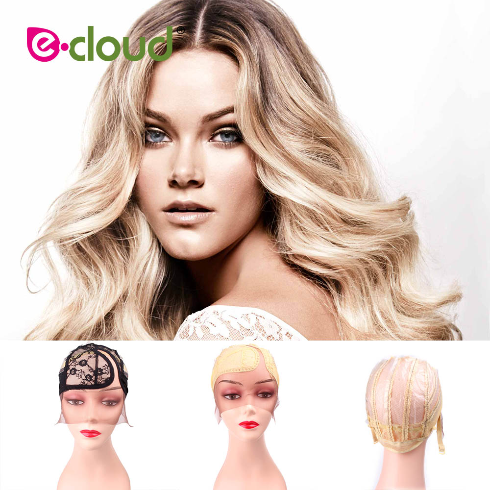 Weaving Hair Net Wig Caps For Making Wigs With Adjustable Strap 10 Pcs/Lot Swiss Lace For Wig Making Materials Size M 2016 new human hair wigs 100% virgin brazilian lace front wigs cheap deep curly glueless full lace wigs bleach knots freeship
