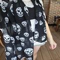 Coolbeener New Womens Caveirão Cabeça de Esqueleto Macio Longo Xaile Do Envoltório Do Lenço Roubou Dec6