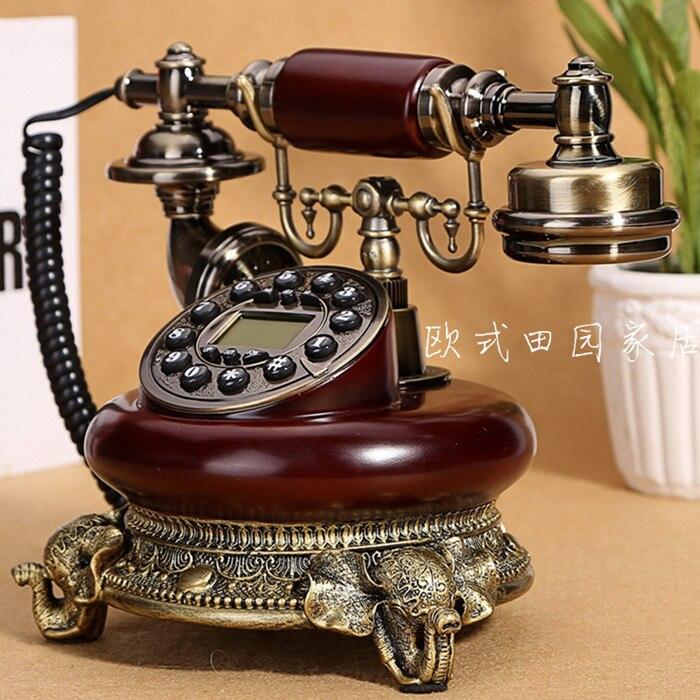 Антикварные телефон стационарный телефон Европейский высокой моды нефрита ретро Винтаж античный сад украшение дома Home арт Рустик