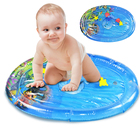 Inflatable Tummy Time Baby Water Play Mat Indoor Outdoor Pad Fill Fun Water Play Mat Birthday Gift Portable Kids Game Toys