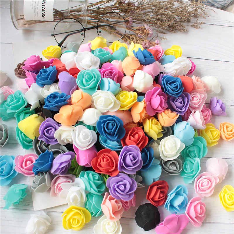 Artificial Rose Flower Foam Head Bouquet Wedding Home Party Festive Decoration