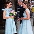 Moda princesa embarazada mujer vestido sin espalda Kate Middleton una línea vestidos WF010B1