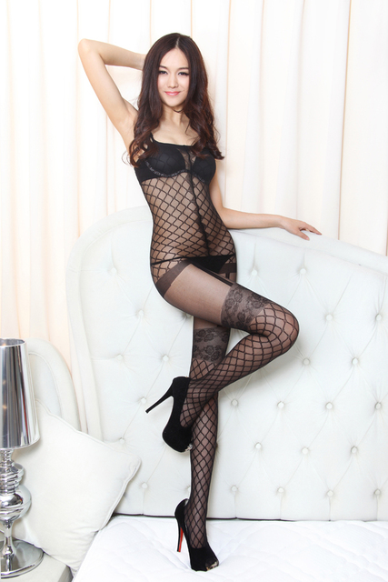 62526b5692b Shanghai Story Lingerie Womens Sexy Body Stocking Open Crotch Bodystockings  Sheer Women Crotchless Nylon Tights 4 colors