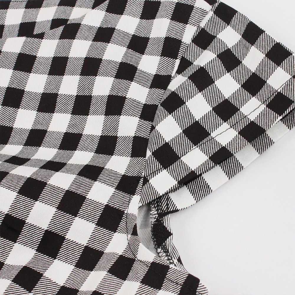 Женское винтажное платье 50 s рокабилли черное клетчатое элегантное ТРАПЕЦИЕВИДНОЕ ПЛАТЬЕ Летние Короткие рукава с поясом хлопковые вечерние платья 2019