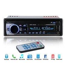 Новые 12 В автомобилей Радио стерео Авто Аудио плеер Bluetooth телефон AUX-IN MP3 FM USB 1 DIN дистанционного Управление авто радио 12Pin/iso