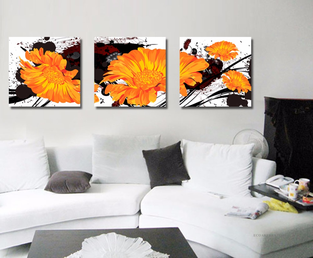 Heat Image Frameless Infrared Panel Heater 3pcs/set Home Heating System 360W special design frameless paintings hills print 3pcs