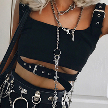 Hollow Out Buckle Tank Top