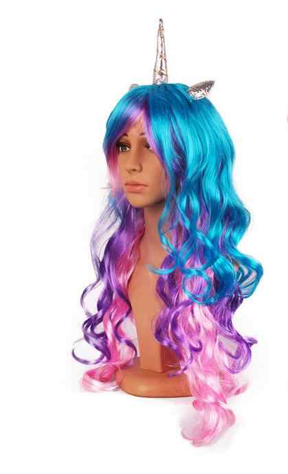3cf55adb4e814 Detail Feedback Questions about 50pcs DHL Pony Rainbow Dash Party Cosplay  Colorful Synthetic Hair Party Hats New Unicorn Halloween Cosplay Wig With  Headband ...