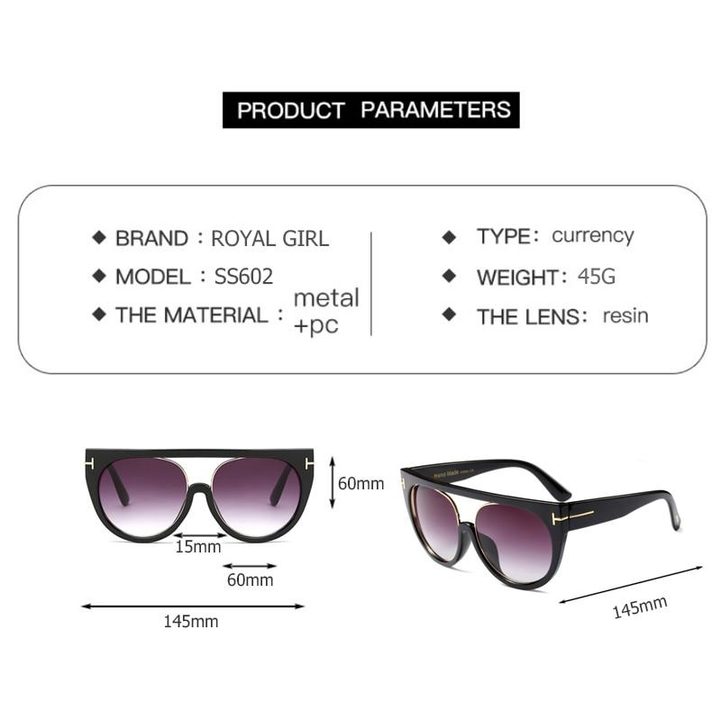 4eb59768db Gafas de sol únicas de la muchacha real de las mujeres de la vendimia de  gran tamaño gafas de sol cuadradas de moda gafas de marca de mujer UV400  ss602 en ...