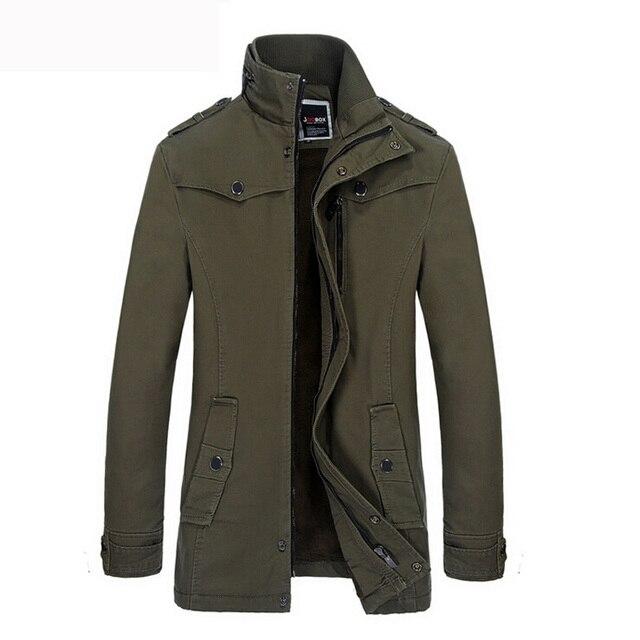 Homens do Revestimento de Trincheira de Inverno Casuais de alta Qualidade Grosso Homens Jaqueta de Inverno da Marca Espessamento Moda Quente Trench Coat Blusão