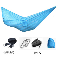 Super Soft Silk Breathable Mesh Hammocks Widened Outdoor Furniture Nylon Rope Net Hanging Sleeping Double Bed