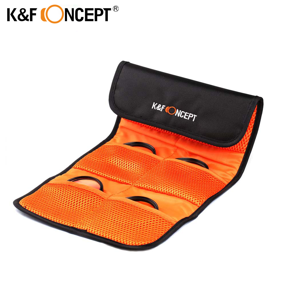 K&F CONCEPT Lens Filter Wallet Skin Case 6 Pockets Camera Filter Bag For UV Polarizing ND 49mm 52mm 55mm 58mm 62mm 67mm 77mm ...