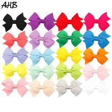 20pcs/lot Solid 2 Inch Hair Clips for Baby Girls Bows Handmade Fashion Small Bowknot Hairgrips Hairpins Party Kids Headwear