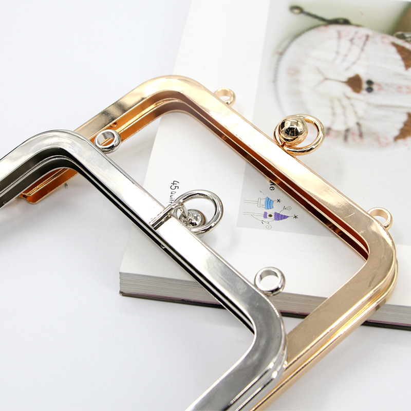 13cm Gold And Silver Color Hardware Parts Metal Accessories For Bag Obag Handle Metal Purse Frame Making Dropshipping Bag Handle