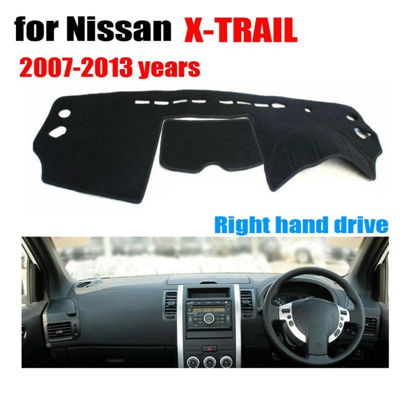 Car dashboard cover mat for Nissan X-TRAIL 2007-2013 Right hand drive dashmat pad dash covers auto dashboard accessories